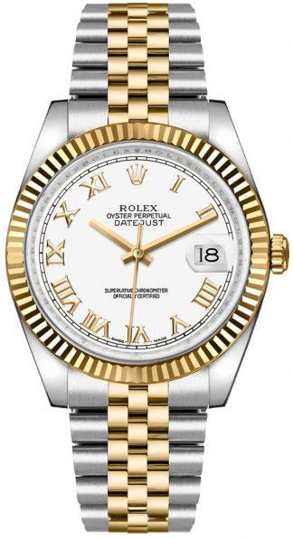 replique Rolex Datejust 36 cadran blanc montre 116233