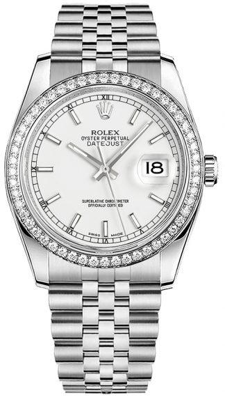 replique Rolex Datejust 36 cadran blanc or et acier 116244