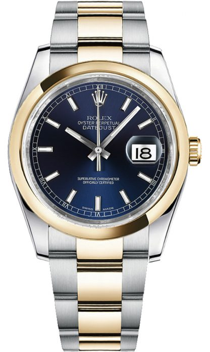 replique Rolex Datejust 36 cadran bleu Montre 116203