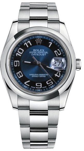 replique Rolex Datejust 36 cadran bleu Montre automatique 116200
