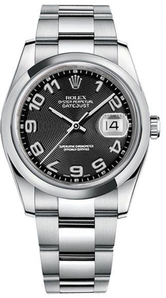 replique Rolex Datejust 36 cadran noir Montre 116200