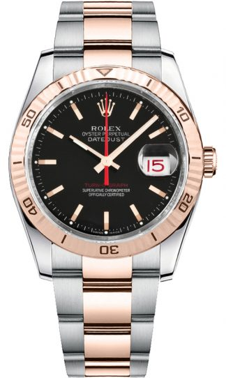 replique Rolex Datejust 36 cadran noir Montre 116261