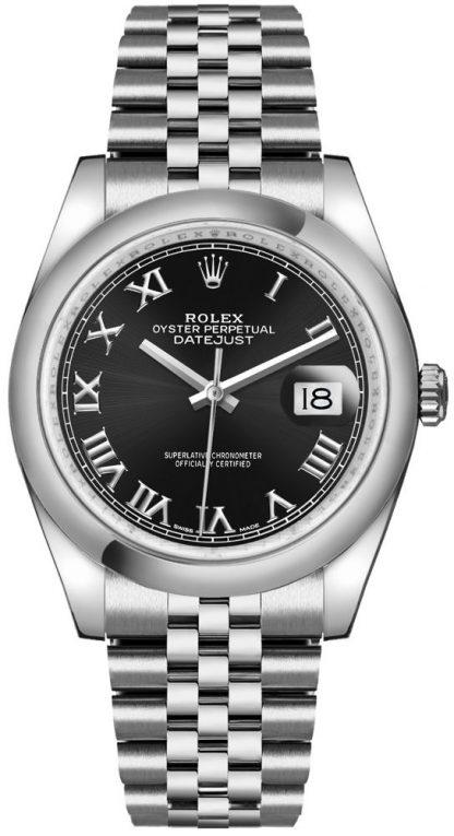 replique Rolex Datejust 36 cadran noir Montre de luxe 116200