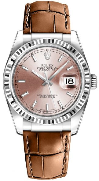 replique Rolex Datejust 36 cadran rose Montre 116139