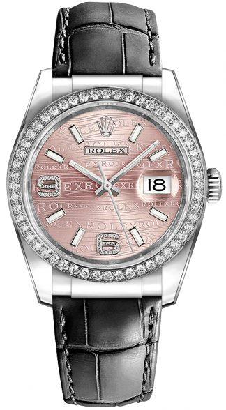 replique Rolex Datejust 36 cadran rose montre de luxe 116189