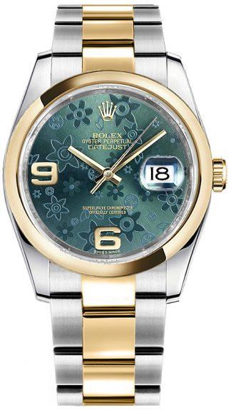 replique Rolex Datejust 36 cadran vert Montre 116233