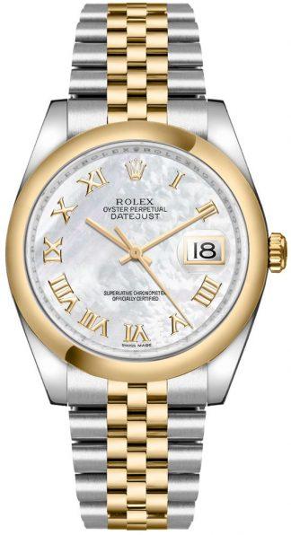 replique Rolex Datejust 36 nacre montre à chiffres romains 116203