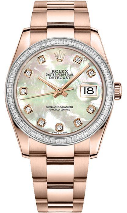 replique Rolex Datejust 36 nacre montre cadran diamant 116285BBR