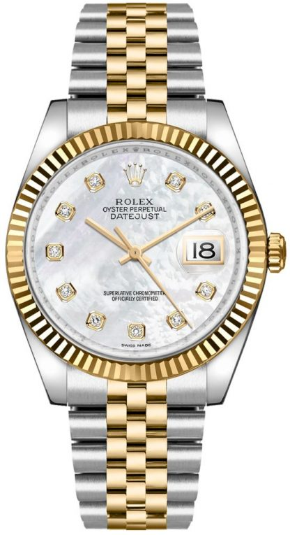 replique Rolex Datejust 36 nacre montre en diamant 116233