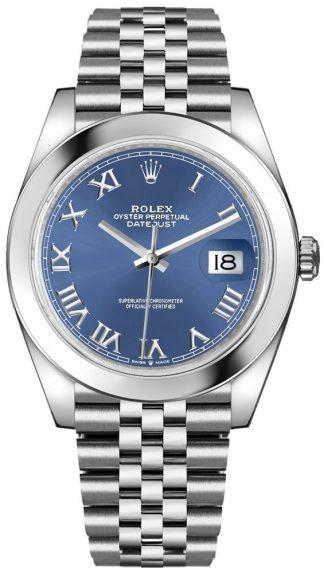 replique Rolex Datejust 41 Blue Dial Jubilee Bracelet Men's Watch 126300