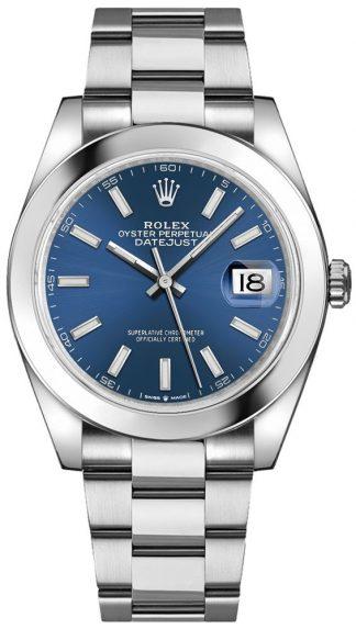 replique Rolex Datejust 41 Blue Dial Men's Watch 126300