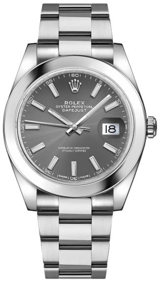replique Rolex Datejust 41 Stainless Oystersteel Automatic Chronometer Men's Watch 126300