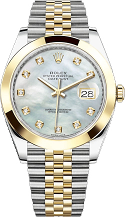 replique Rolex Datejust 41 nacre montre cadran diamant 126303