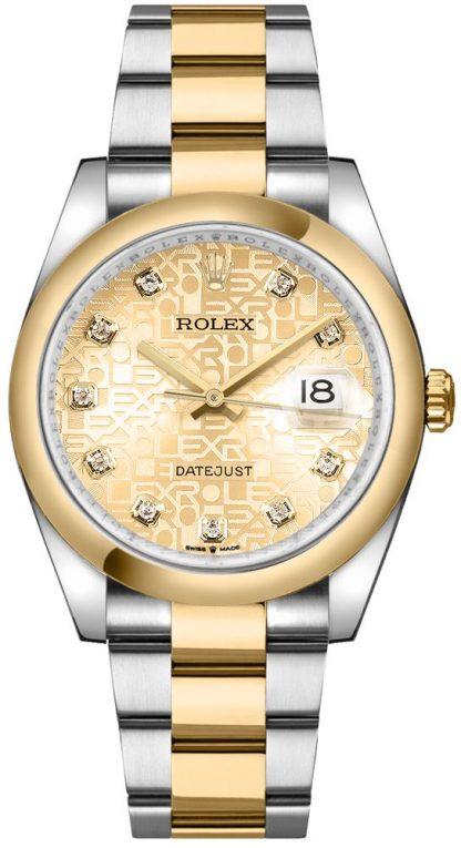 replique Rolex Datejust Champagne Jubilee Dial Men's Watch 126203