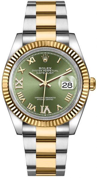 replique Rolex Datejust Green Dial Women's Watch 126233