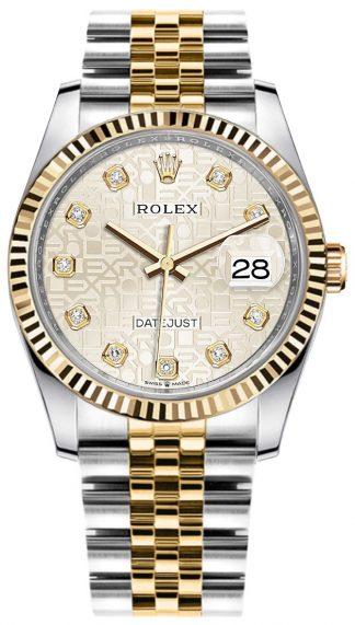 replique Rolex Datejust Silver Jubilee Dial Women's Watch 126233