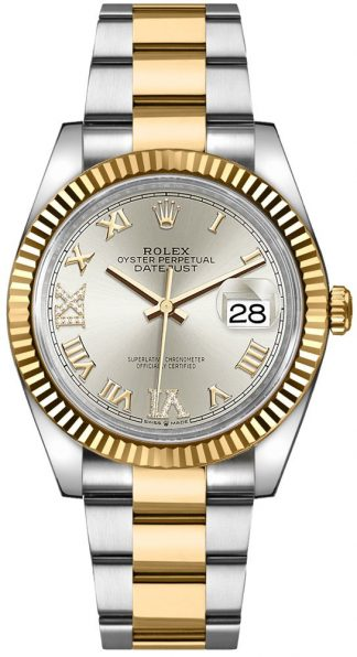 replique Rolex Datejust Silver Roman Numeral Women's Watch 126233