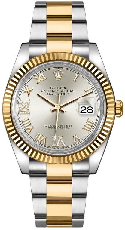 replique Rolex Datejust Silver Roman Numeral Women's Watch 126233