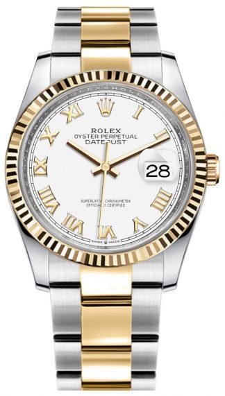 replique Rolex Datejust White Dial Women's Watch 126233