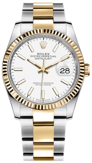 replique Rolex Datejust White Oyster Women's Watch 126233