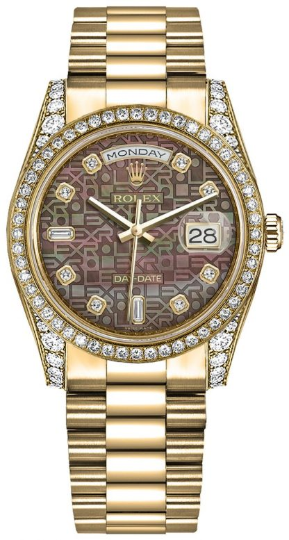 replique Rolex Day-Date 36 Gold Diamond President Montre bracelet 118388