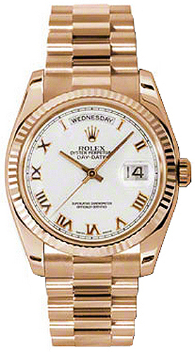 replique Rolex Day-Date 36 Montre de luxe en or rose pour homme 118235