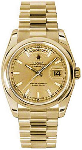 replique Rolex Day-Date 36 President Bracelet Montre en or massif 118208