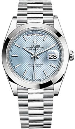 replique Rolex Day-Date 40 Montre automatique en platine pour homme 228206