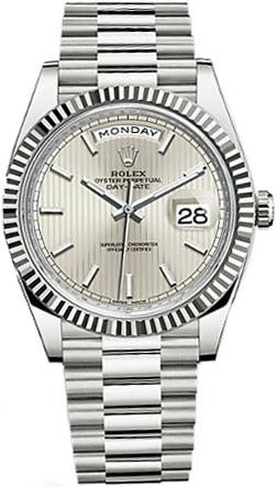 replique Rolex Day-Date 40 Montre de luxe en or pour homme 228239