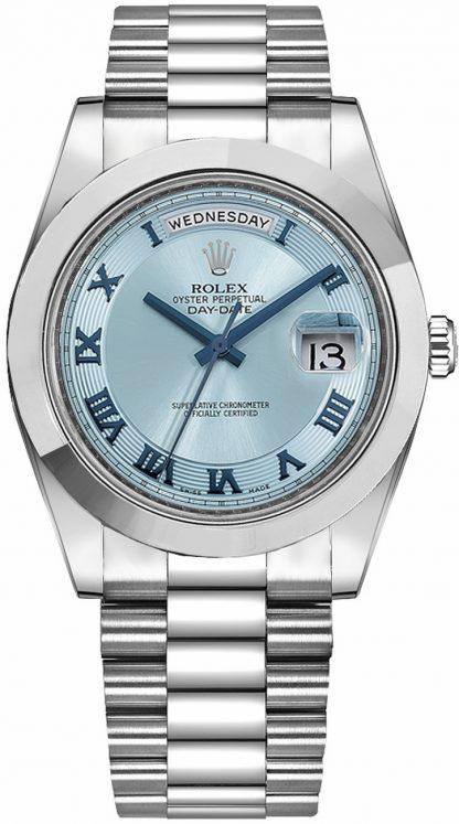 replique Rolex Day-Date 41 Montre de luxe pour homme en platine 218206