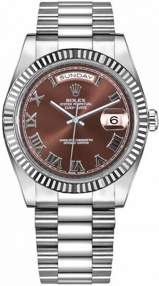 replique Rolex Day-Date 41 President Bracelet Montre en or blanc 218239