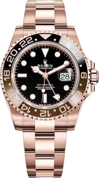 replique Rolex GMT-Master II Root Beer Or rose 126715CHNR
