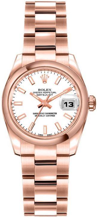 replique Rolex Lady-Datejust 26 Everose Gold Women's Watch 179165