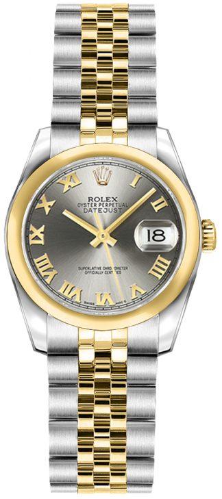 replique Rolex Lady-Datejust 26 Grey Dial Women's Watch 179163