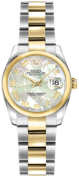replique Rolex Lady-Datejust 26 Mother of Pearl Roman Numeral Watch 179163