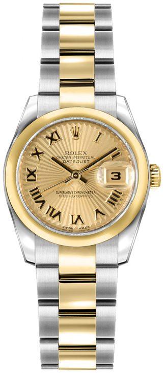 replique Rolex Lady-Datejust 26 Oyster Bracelet Domed Bezel Watch 179163