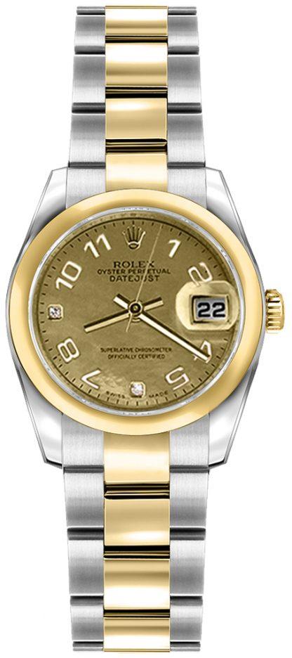 replique Rolex Lady-Datejust 26 Oyster Bracelet Gold & Steel Watch 179163