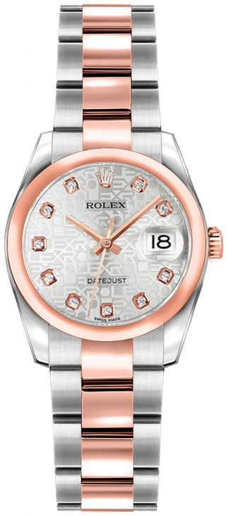 replique Rolex Lady-Datejust 26 Oyster Bracelet Watch 179161