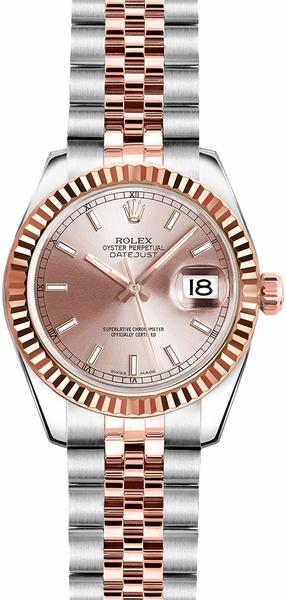 replique Rolex Lady-Datejust 26 Pink Dial Watch 179171