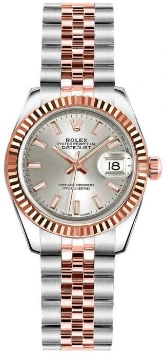 replique Rolex Lady-Datejust 26 SIlver Dial Jubilee Bracelet Watch 179171