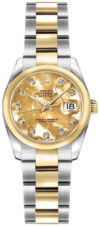 replique Rolex Lady-Datejust 26 Steel & Gold Women's Watch 179163