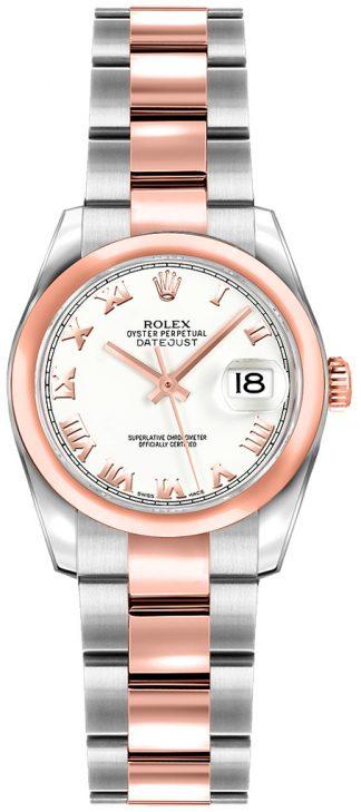 replique Rolex Lady-Datejust 26 White Dial Women's Watch 179161