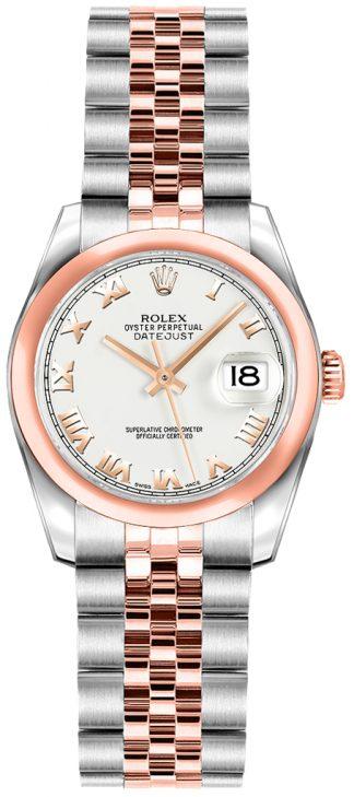 replique Rolex Lady-Datejust 26 White Roman Numeral Dial Watch 179161