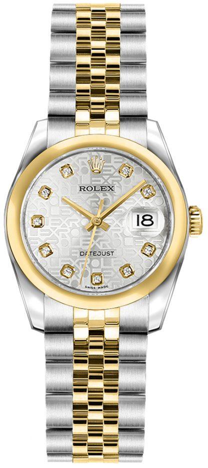 replique Rolex Lady-Datejust 26 Women's Yellow Gold & Steel Watch 179163