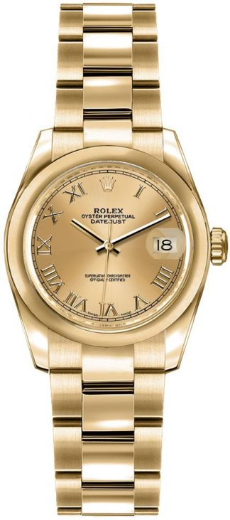 replique Rolex Lady-Datejust 26 Yellow Gold Women's Watch 179168
