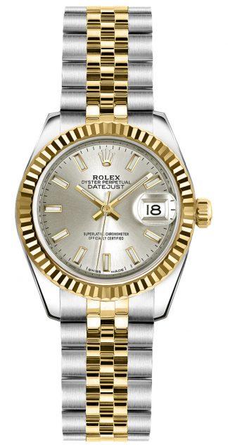 replique Rolex Lady-Datejust 26 cadran argenté Jubilee Bracelet Montre 179173