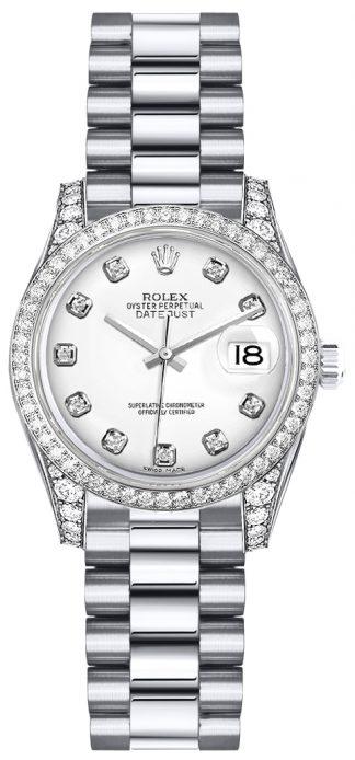 replique Rolex Lady-Datejust 26 cadran diamant blanc 179159