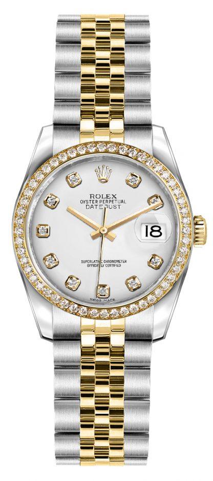 replique Rolex Lady-Datejust 26 cadran diamant blanc or et acier 179383