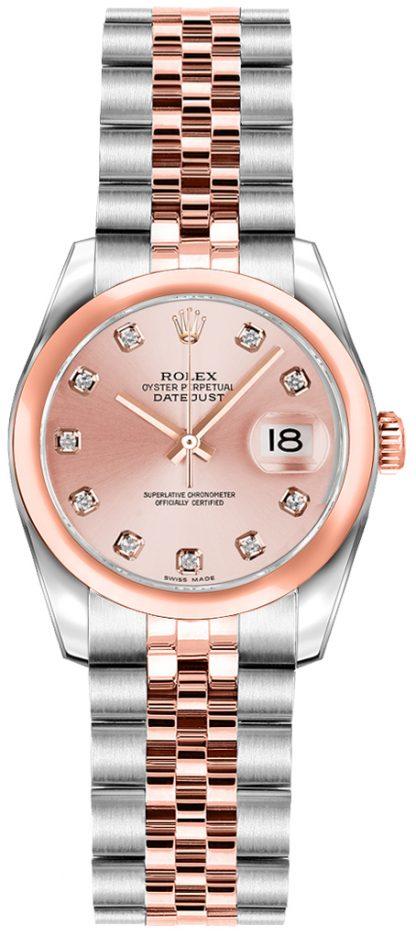 replique Rolex Lady-Datejust 26 cadran diamant rose 179161