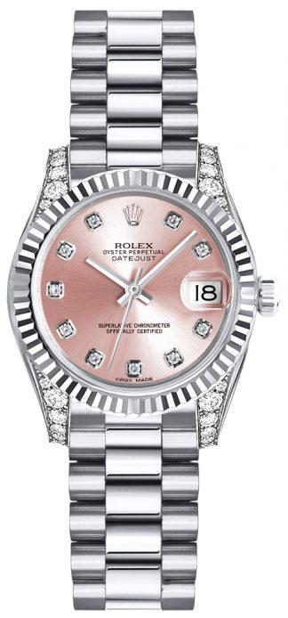 replique Rolex Lady-Datejust 26 cadran diamant rose 179239